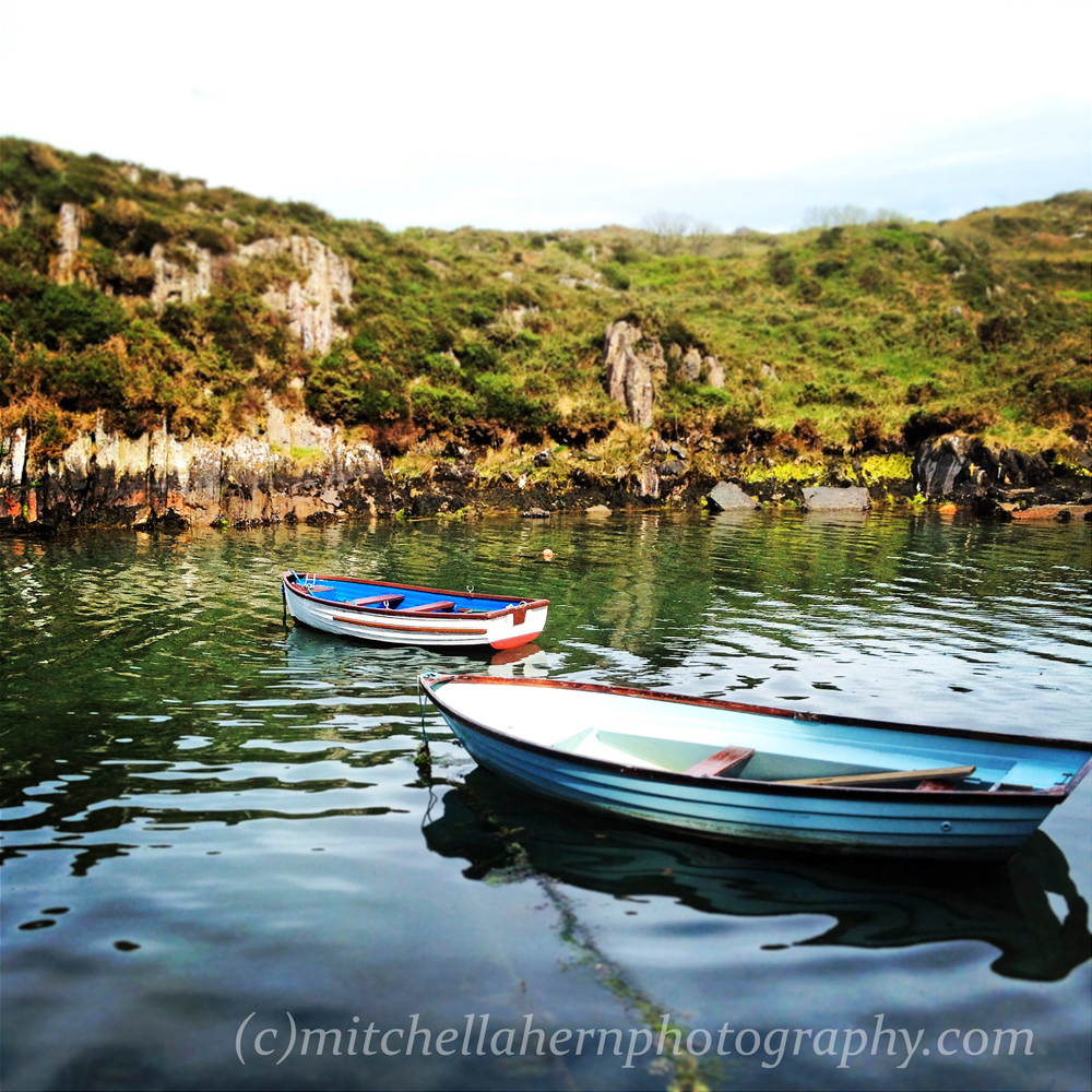 Lough Hyne_rowboats, West Cork
